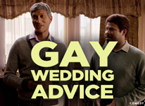 Thumbnail image for Q. Do we throw something other than rice? #GayWeddingQuestions