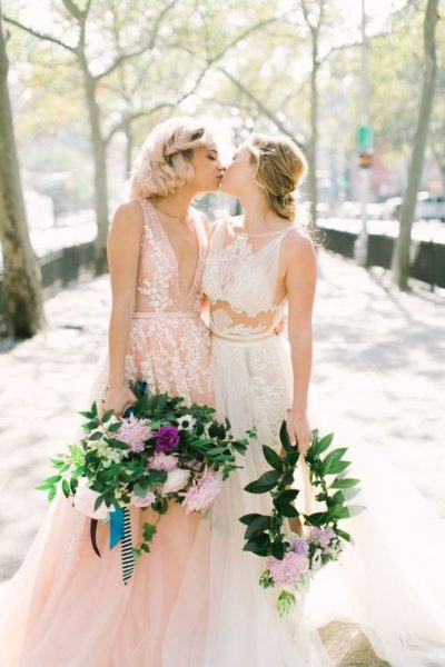 Thumbnail image for Beautiful Lesbian Wedding Styles and Dresses